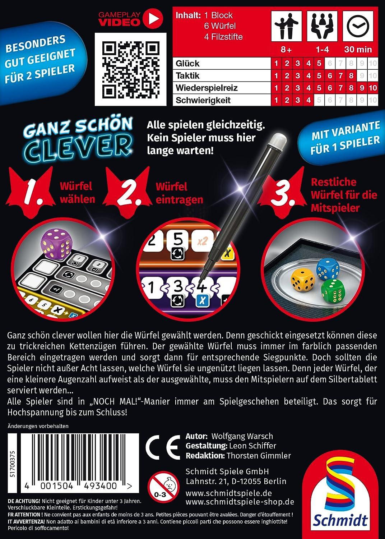 Schmidt Spiele 49340 Very Clever Game