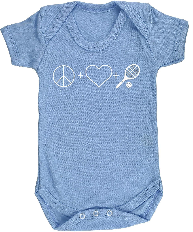 Love and Tennis Chaleco para beb/és Pijama de Manga Corta para ni/ños Unisex HippoWarehouse Peace