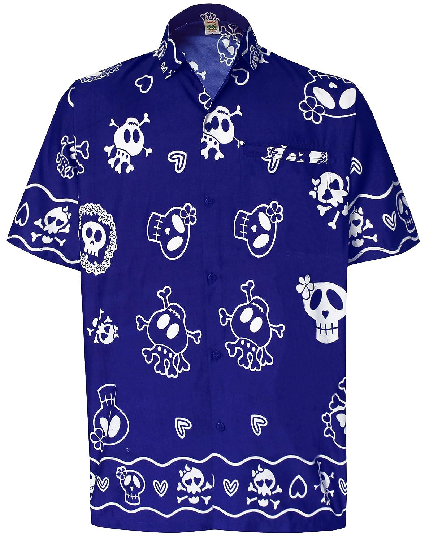 352d7628965cc  La Leela  Botón Casual Cráneo Playa de Miedo por el Hawaiano de La Hawaiana