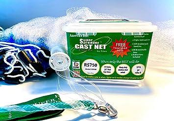 10050 3//8 Sq. Mesh Cast Net 5 ft Nylon Super Spreader Cast Net