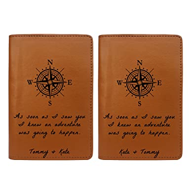 b931377dde8f Compass - Couple Passport Holder Personalized Passport Cover Set of 2