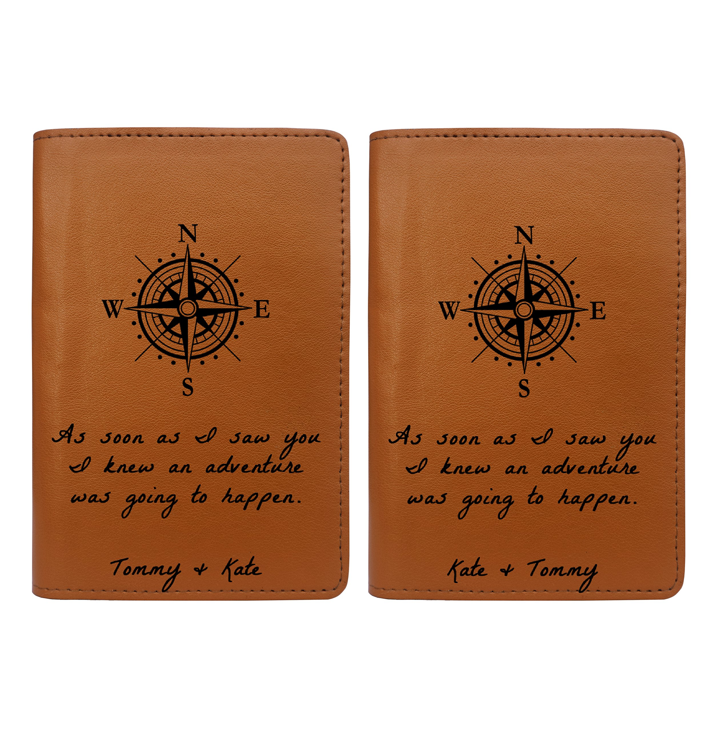 Couple Passport Holder - Free Personalization - Set of 2 - Couple Collection