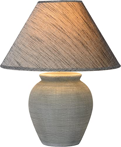 Lucide Table lamp, Ceramics, E27, 60 W, Grey