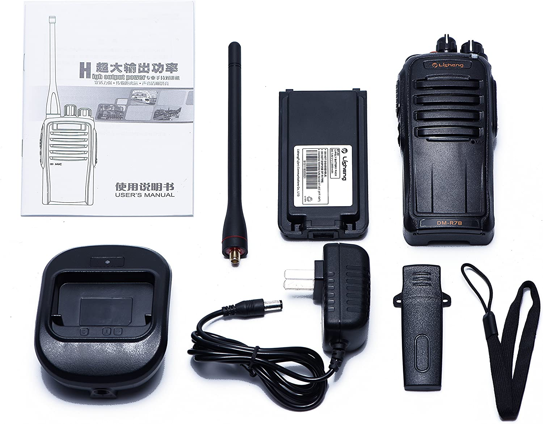 Ltd Initial Hope Trading Co LISHENG DM-R77 DMR Digital Amateur FM Portable Two Way Radio Black, Set 1