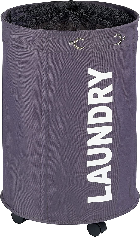 "WENKO Polyester Rondo Laundry Bin, 19.81 gallon/15.7"" x 23.6"" x 15.7"", Grey"