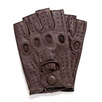 Riparo Women's Fingerless Half Finger Driving Motorcycle Unlined Leather Gloves