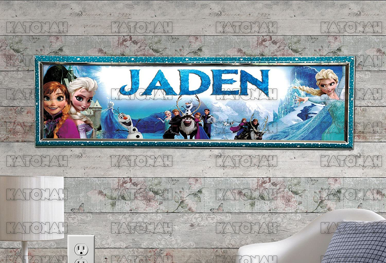 "Movie Shrek Poster 30/"" x 8.5/"" Custom Name Painting Printing"