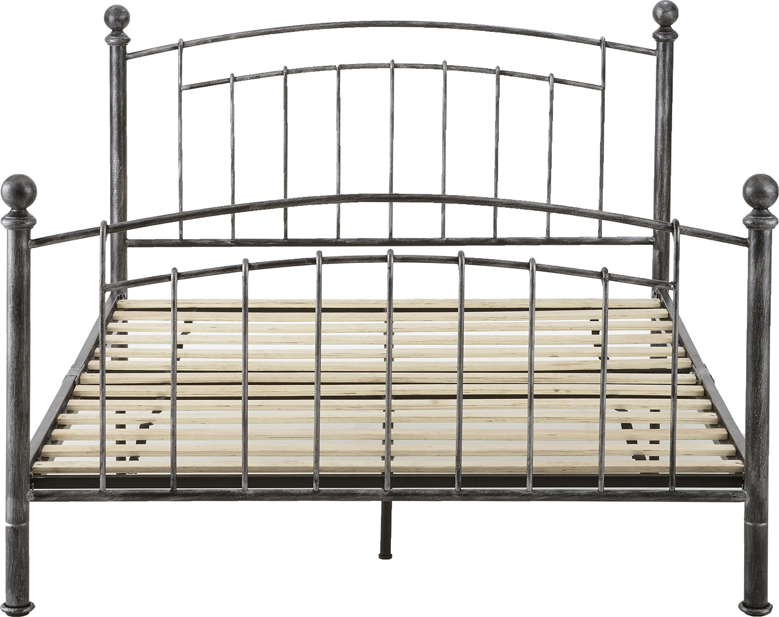 Flex Form Chandler Metal Platform Bed Frame / Mattress Foundation with Headboard and Footboard, Queen by Flex Form (Image #6)