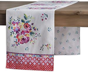 Maison d' Hermine Rose Garden 100% Cotton Table Runner for Party | Dinner | Holidays | Kitchen | Spring/Summer [Double Layer (14.5 Inch by 72 Inch)]