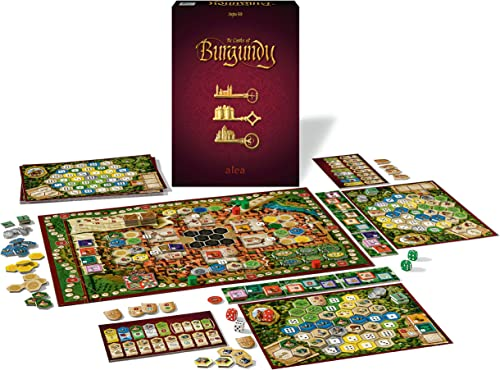 Ravensburger Castles of Burgundy Strategy Game for Ages 12 & Up - 20th Anniversary Alea - Trade. Build. Rule The Realm!, Model:26925