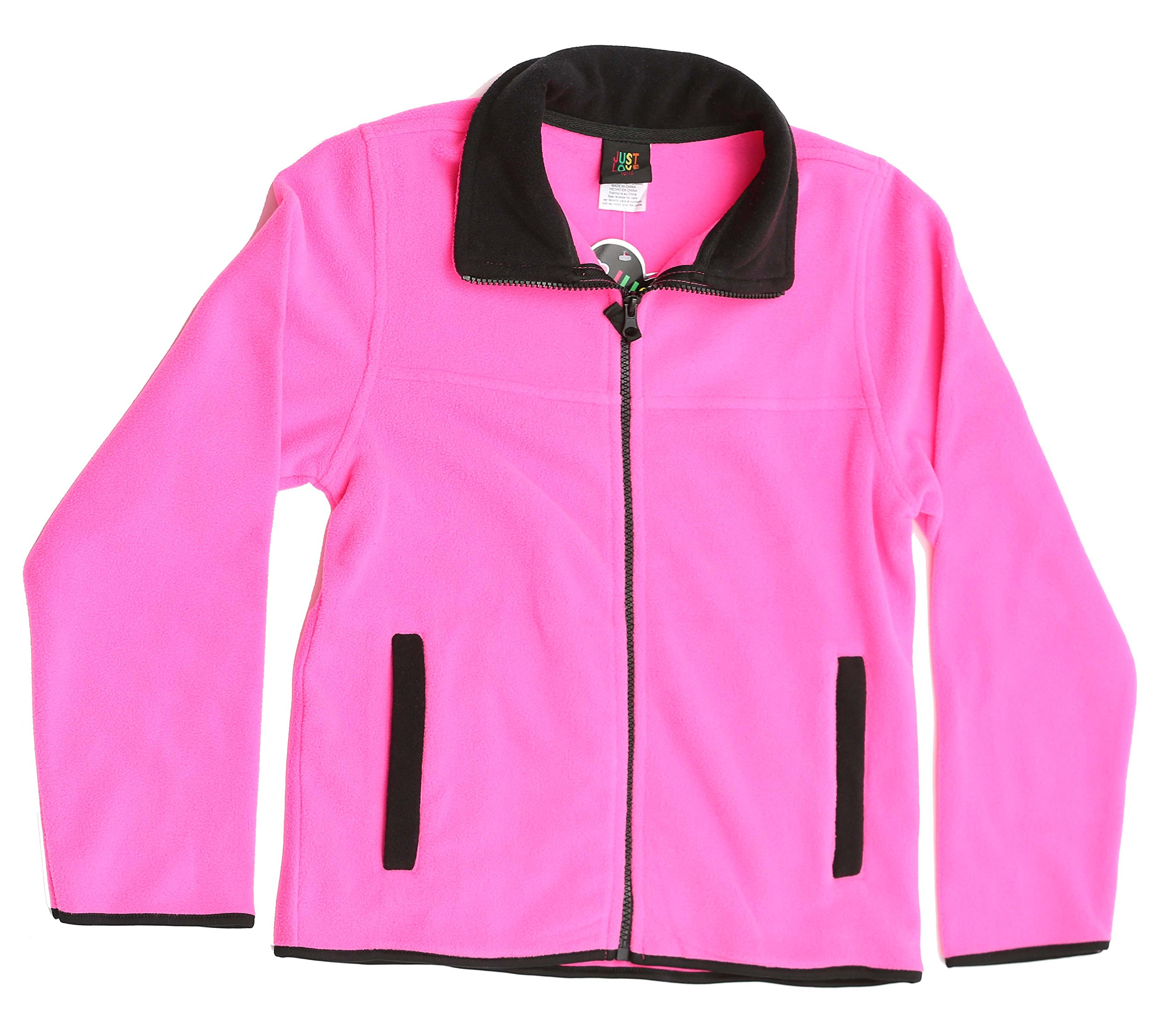 Just Love 98503-FUC-7/8 Solid Polar Fleece Girls Jacket