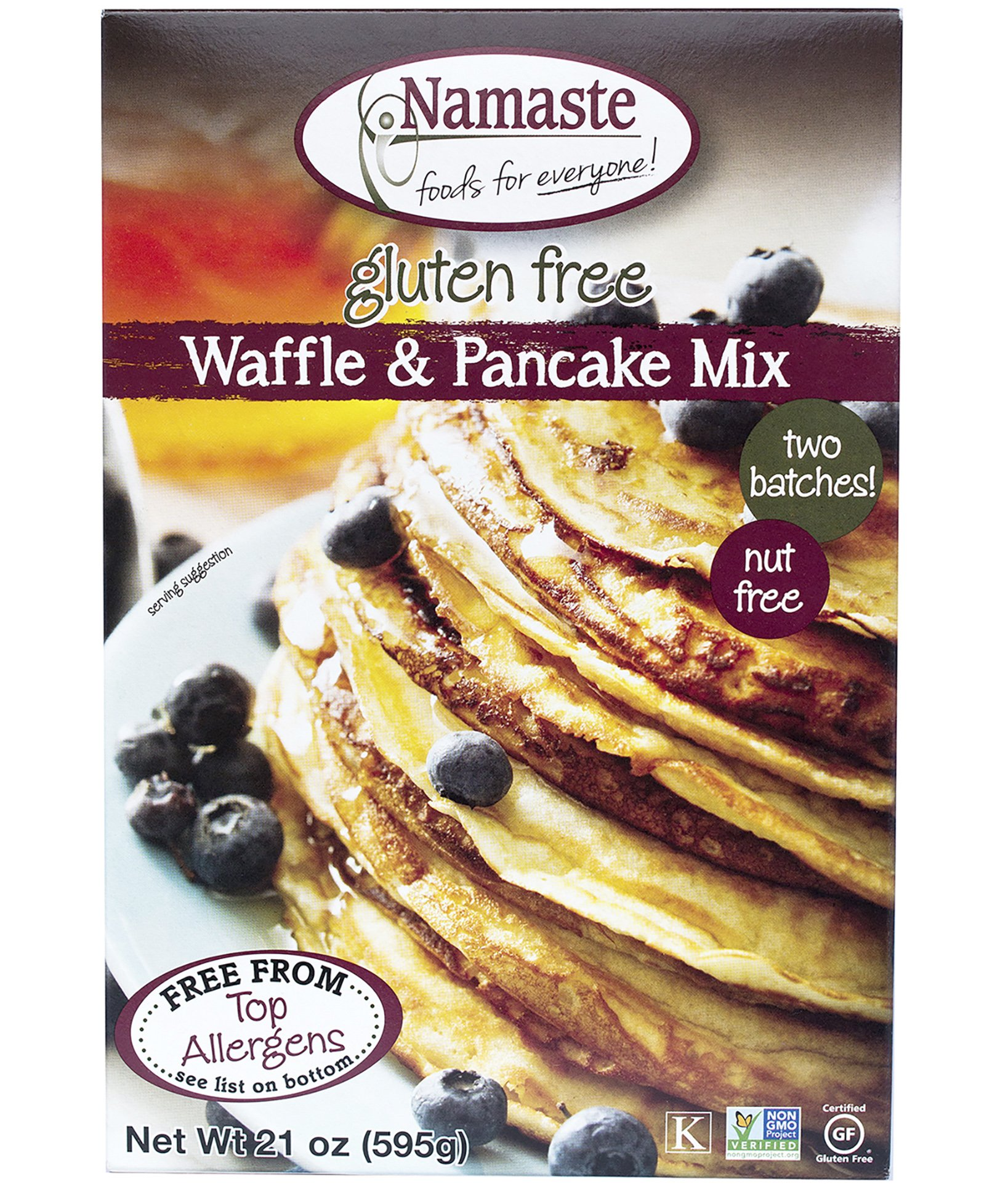 Namaste Foods, Gluten Free Waffle & Pancake Mix, 21-Ounce Bags (Pack of 6) by Namaste Foods