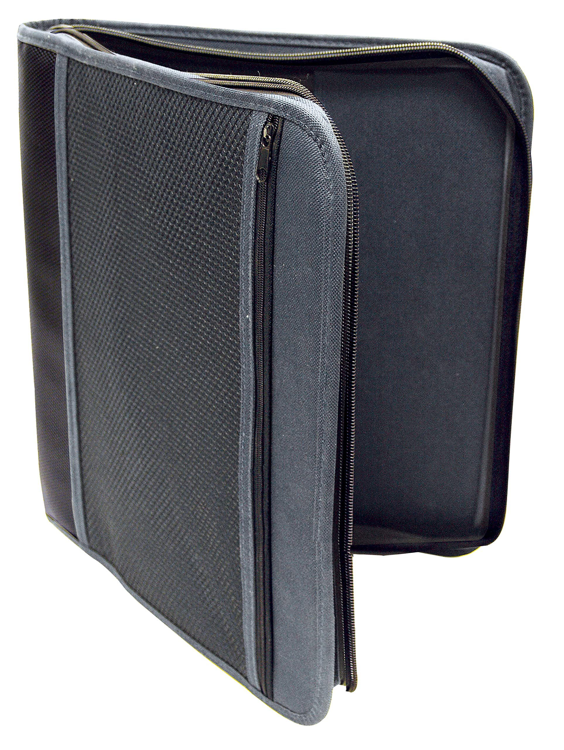 1.5'' Zipper Binder - Black
