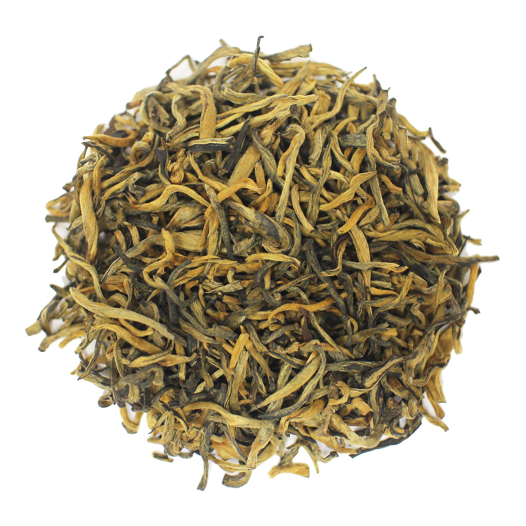 The Tea Farm - Yunan Gold Black Tea - Yunnan, Chinese Loose Leaf Black Tea (2 Ounce Bag)
