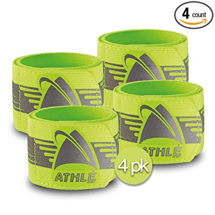 Night Reflective Safety Bracelet With Velcro Outdoor Sports Night Running Cycling Jogging Warning With Luminous Arm Band Running Running Arm Warmers