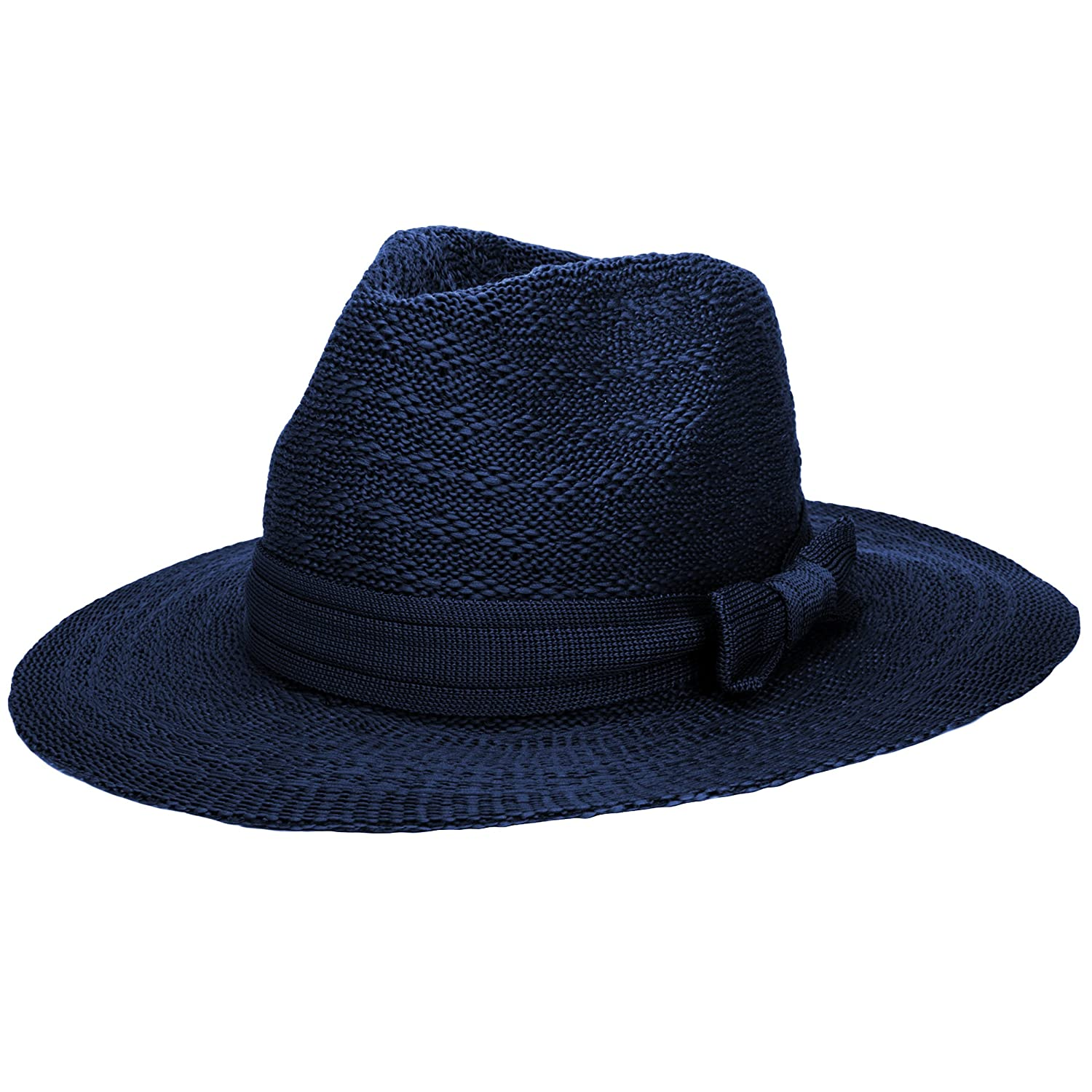 Aerusi Damen Coco Keys Series Klassiker Blower Jazz Hut Schwarzes Fedora Trilby Hut