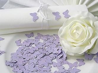 EinsSein 10g Streudeko Hochzeit Butterfly flieder Tischdeko Hochzeit ca. 160St