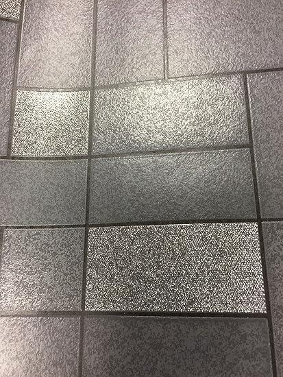 Cream Tile Wallpaper Glitter Brick Effect Luxury Washable Vinyl Kitchen Bathroom