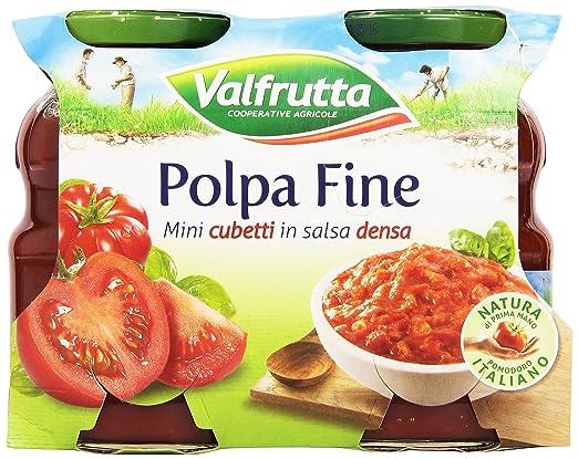 4 opinioni per Valfrutta- Polpa Fine, Mini cubetti in salsa densa- 660 g