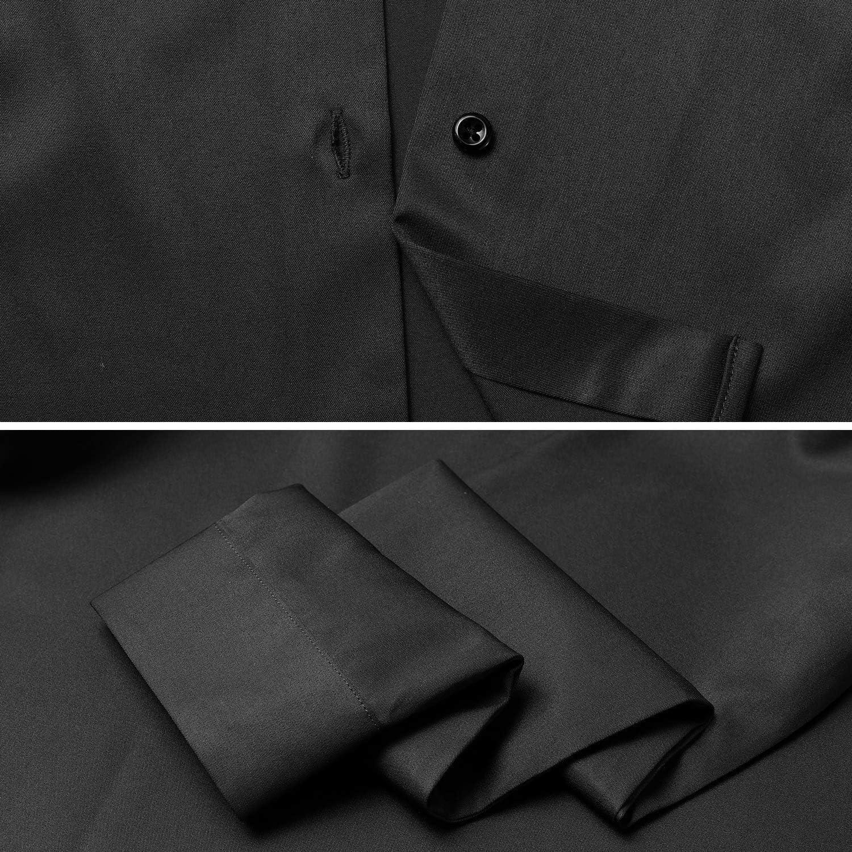 Camicia Shirt Ideale per Ufficio//Lavoro//Colloquio Camicetta Casual Blusa Chiusura Bottoni Slim Fit Formale Elegante in Fibra bamb/ù FLY HAWK Camicia Basic da Donna Manica Lunga