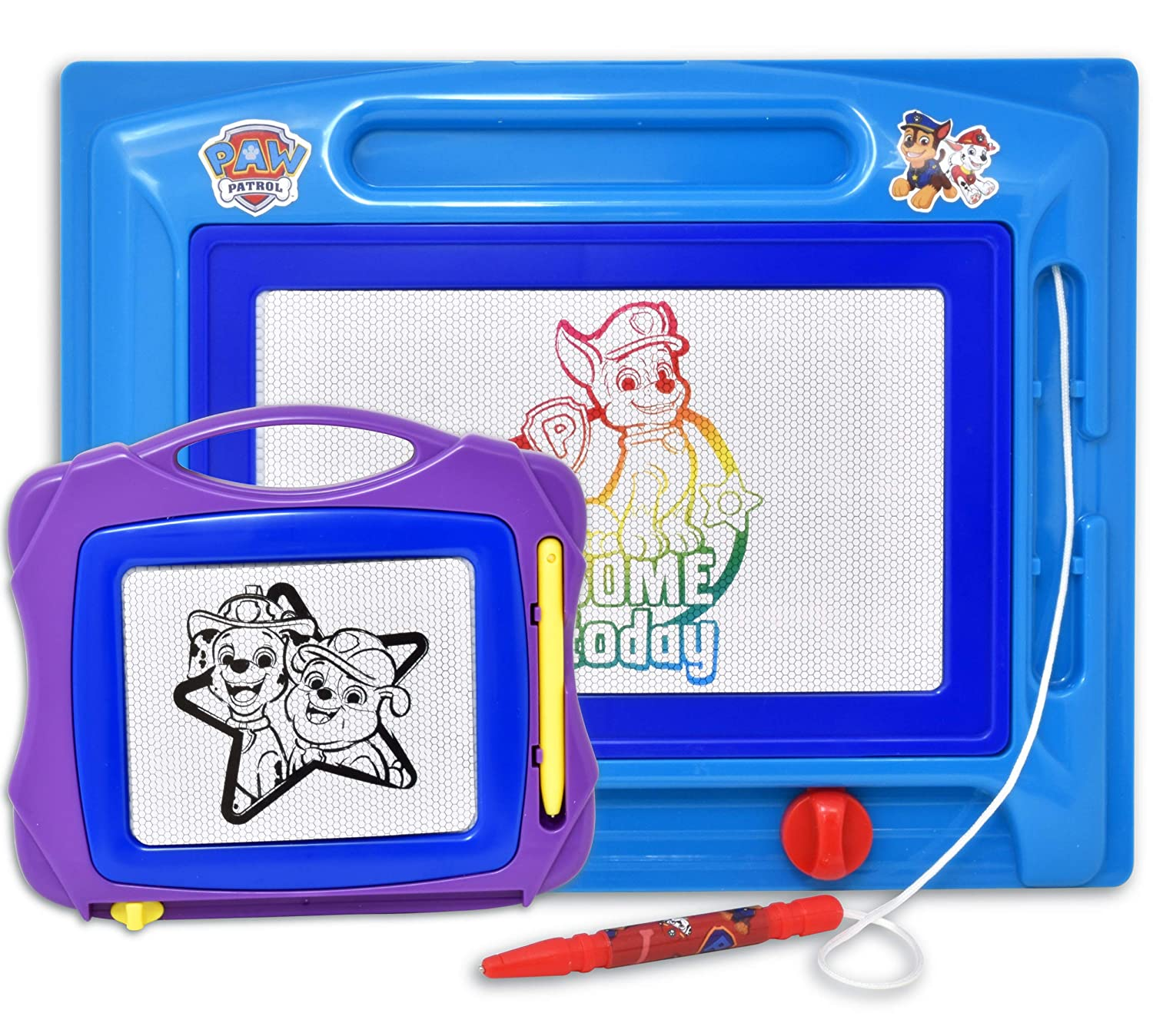 Draw and Erase for Kids Paw Patrol Magnetic Drawing Board Boys /& Girls Toddlers Large Erasable Magna Doodle Sketching Pad with Travel Size Sketcher to Color