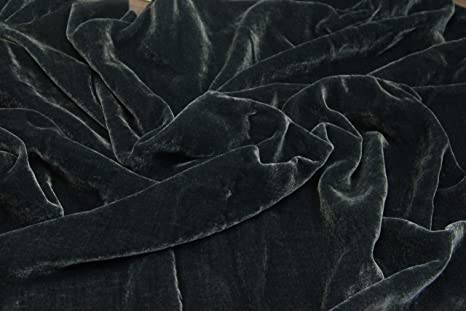 """Dark Blue Velvet Soft No-Stretch 60/""""W Fabric UPHOLSTERY Suits Bags Drapes"""
