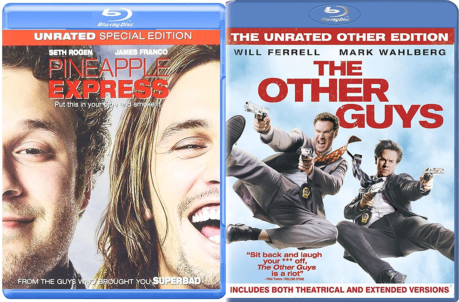 Amazon Com The Other Guys Pineapple Express Blu Ray Set Comedy 2 Movies Double Feature Bundle Will Ferrell Movies Tv