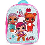 """LOL Surprise! 11"""" Blue and Pink Mini Backpack School Bag for Girls"""