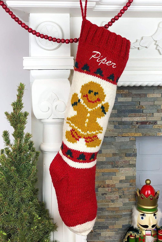 B015AK9S5C Personalized Stocking Hand Knit Mary Maxim Christmas Decor 91vmtA7JdVL
