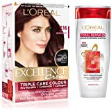 L'Oreal Paris Excellence Creme Hair Color, 3.16 Burgundy, 72ml+100g with Free Total Repair 5 Shampoo, 175ml
