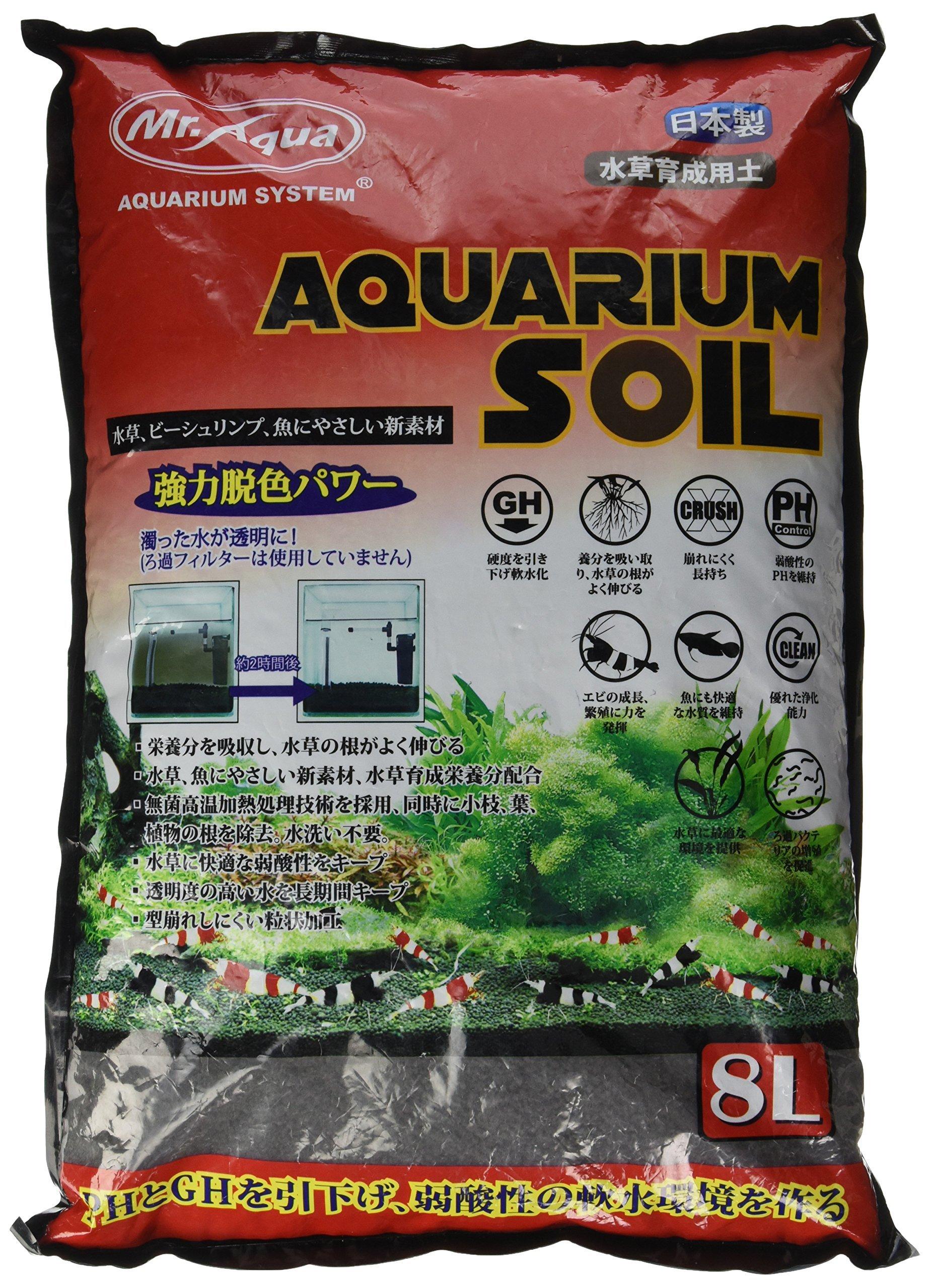 Mr. Aqua N-MAR-067 8 L Course Pet Habitat Water Plant Soil by Mr. Aqua