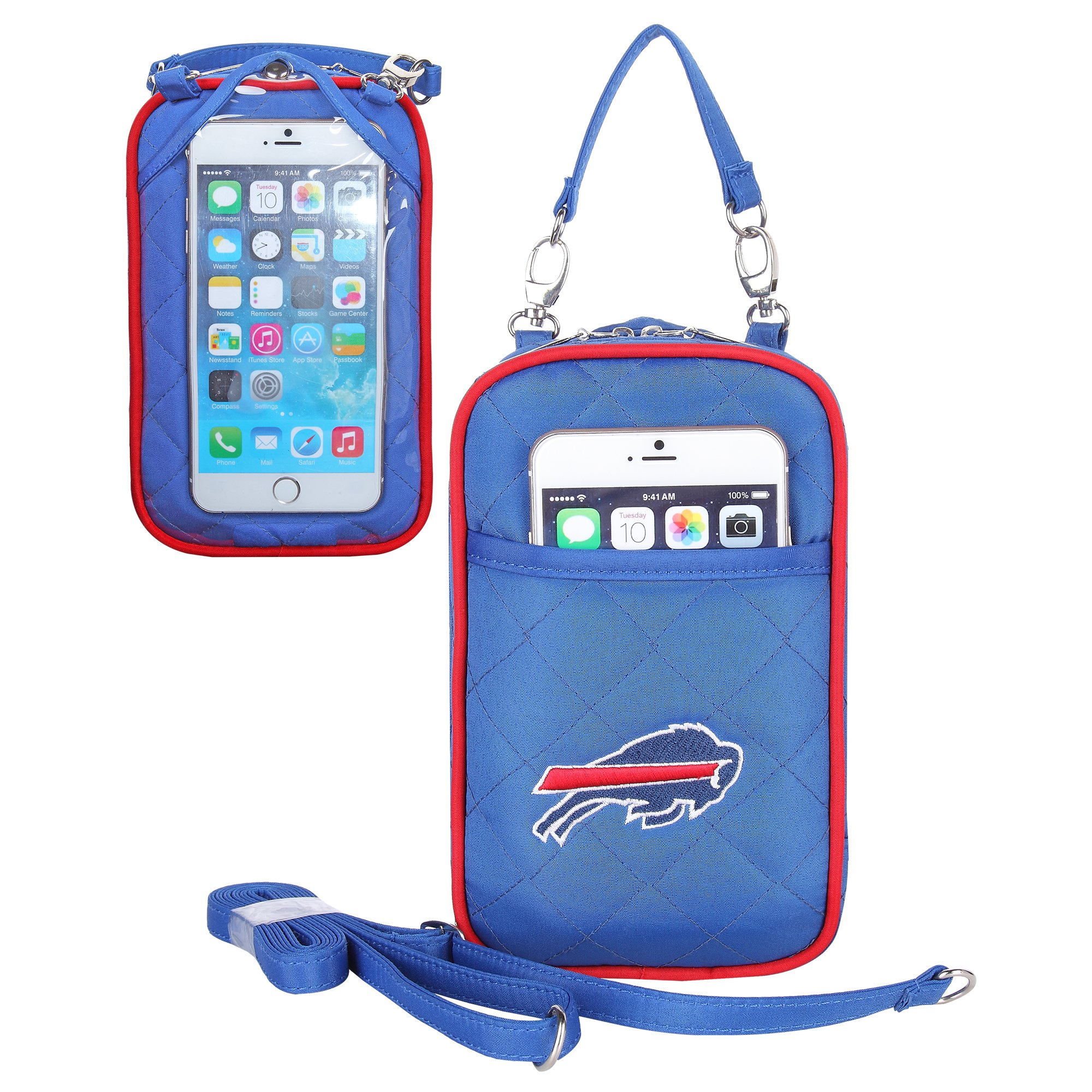 Charm14 NFL Buffalo Bills Women's Crossbody Bag Quilt-Embroidered Logo-Fits All Phones by Little Earth