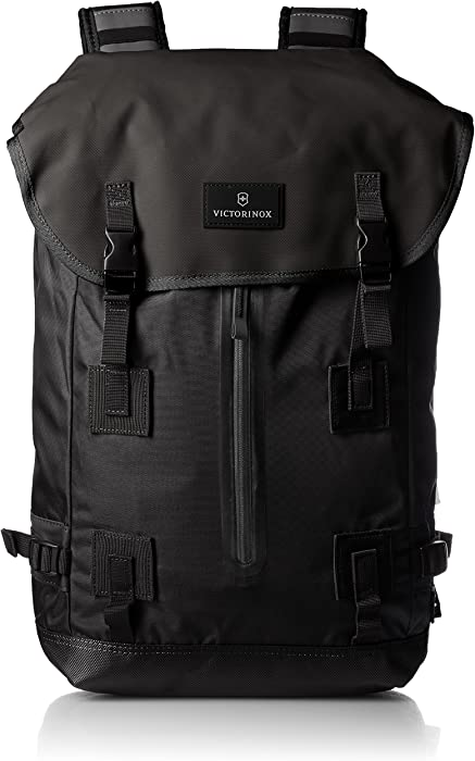 Victorinox Altmont 3.0 Flapover Drawstring Laptop Backpack, Black, 18.8-inch