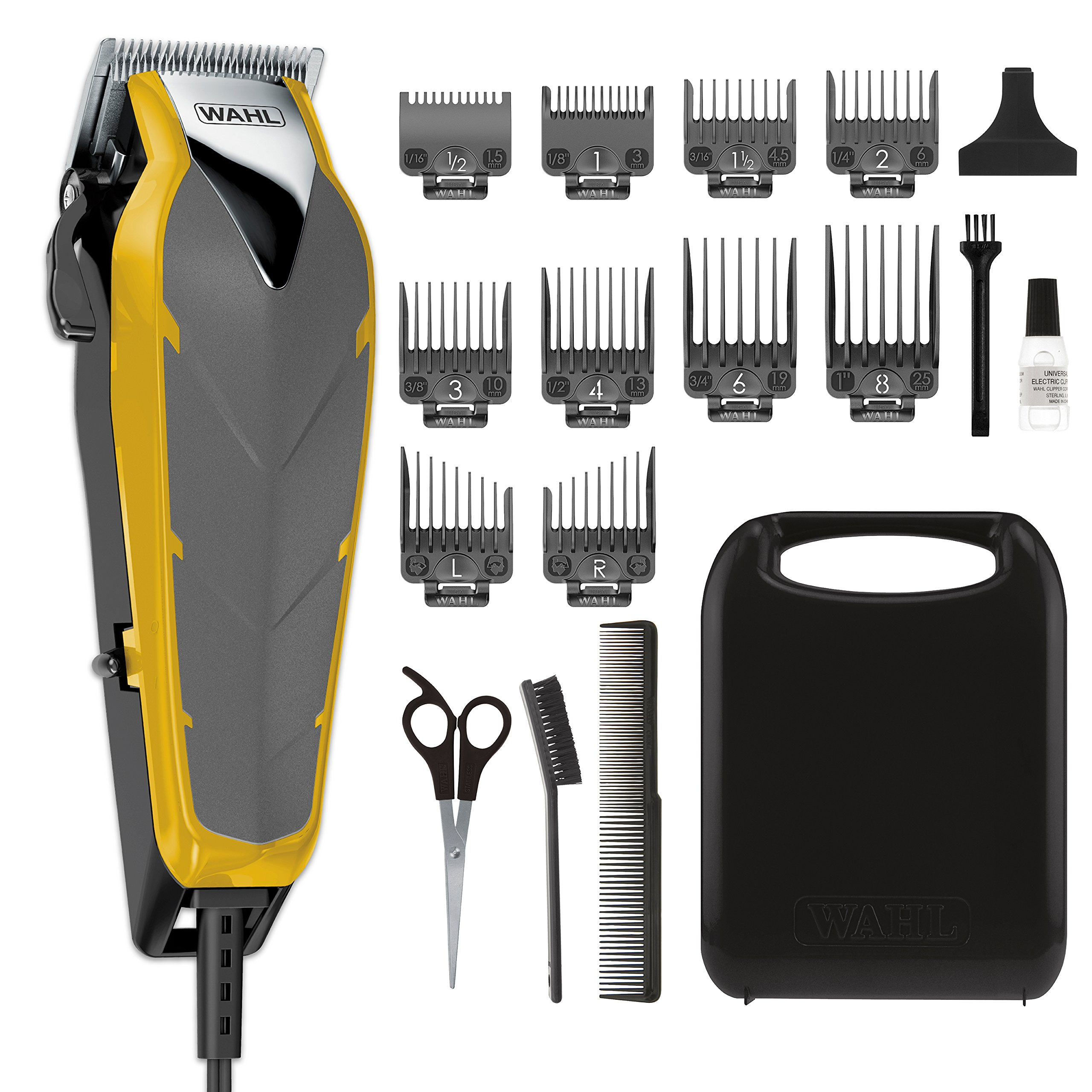 Wahl Clipper Fade Cut Haircutting Kit for Blending and Fade Cuts with Extreme-Fade Precision Blades, Heavy Duty Motor, Secure-Snap Attachment Guards, and Fade Lever for Home Haircuts - Model 79445