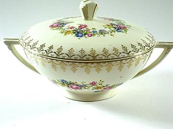 Amazon.com | Edwin M. Knowles Antique Floral Cartouche Covered ...