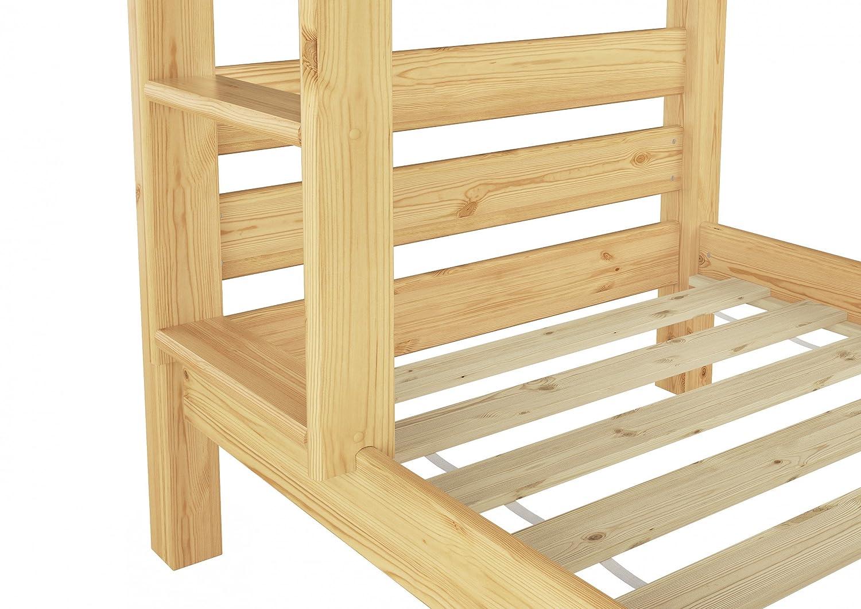 Etagenbett Nische 100 : Teilbares etagenbett massivholz kiefer 90x200 rollrost hohes bett