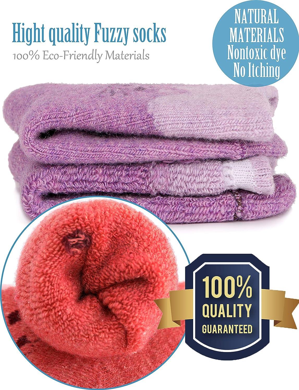 Boys Girls Wool Socks For Child Kid Toddler Thermal Warm Thick Cotton Winter Crew Fun Socks 6 Pairs