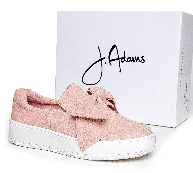 J. on Adams Bow Platform Slip on J. – Trendy Flatform Shoes - Comfortable Closed Toe Sneakers – Wally B072F2946C 7 M US|Bow Pink Nbpu e09b26
