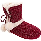 Chinese Laundry Ladies POM POM Plush & Knit Slipper Boot