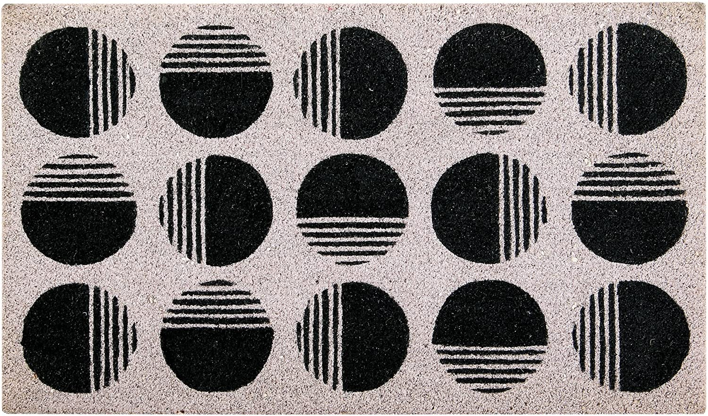 Better Trends// Pan Overseas FWGE7523 Art Deco Coir Mat Coir Door Mat