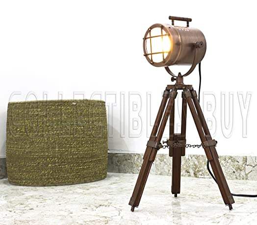 Antique Desk Spotlight Table Lamp Copper Finish tripod desk lamps ...