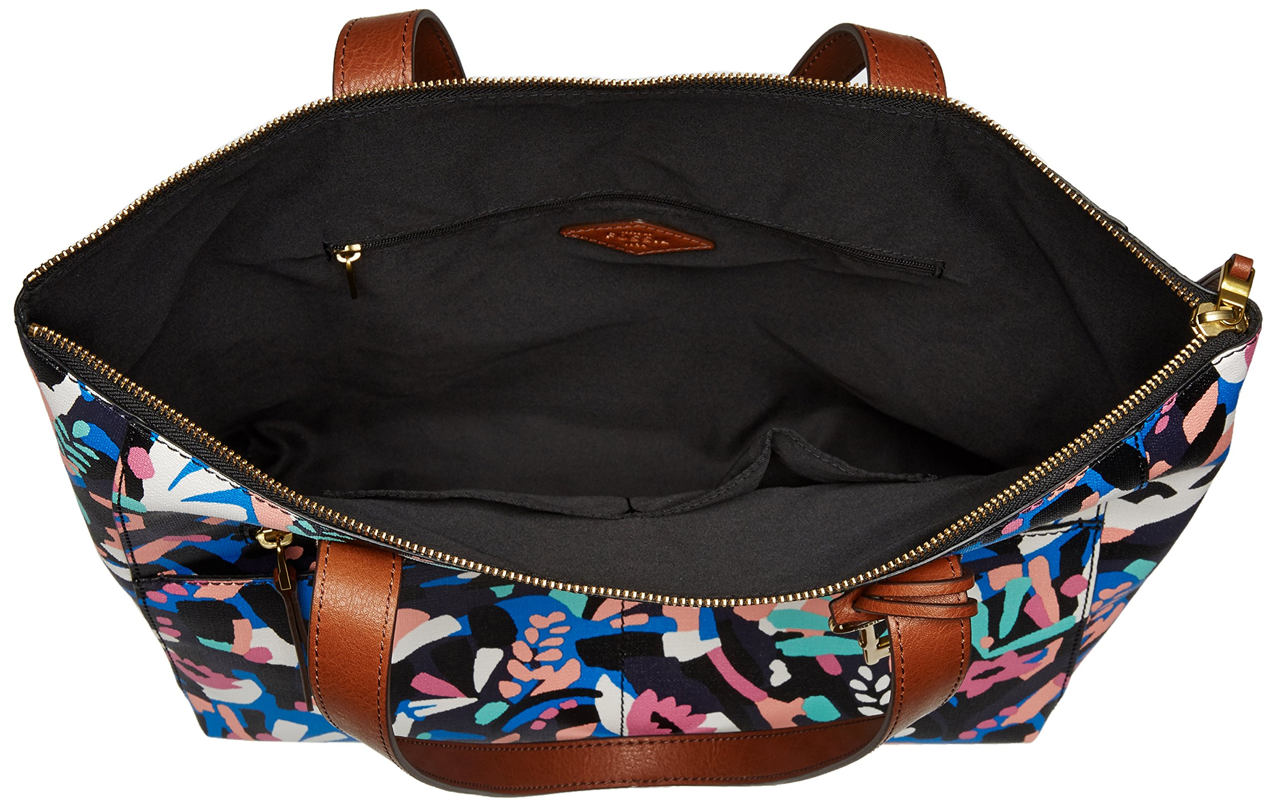 Fossil Fiona E/W Tote Bag, Black Floral,One Size by Fossil (Image #5)