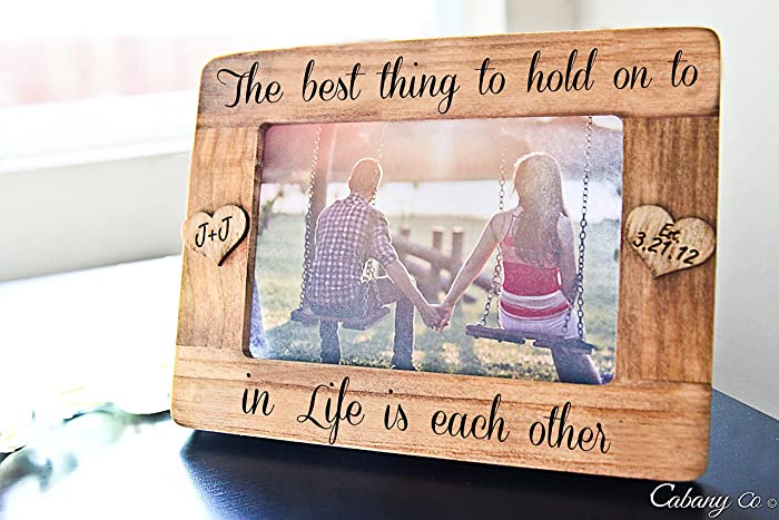 Amazoncom Personalized Picture Frame The Best Thing To Hold Onto