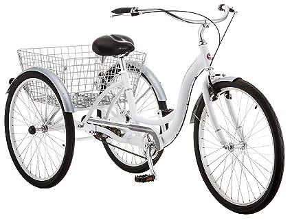 66f60844fcf Amazon.com : Schwinn Meridian Adult Tricycle, 24-Inch Wheels, Slate Blue :  Sports & Outdoors