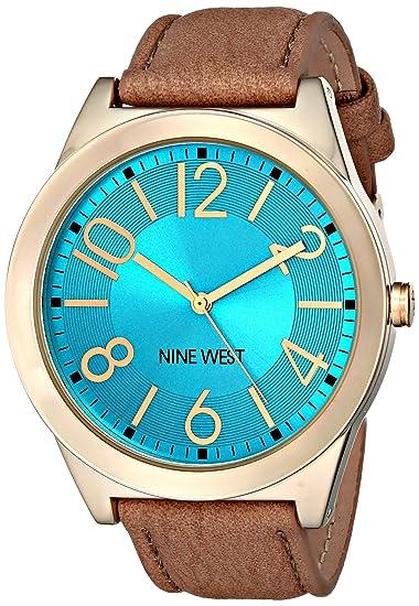 Nine West NW/1660TQCM - Reloj de Pulsera Mujer, Poliuretano