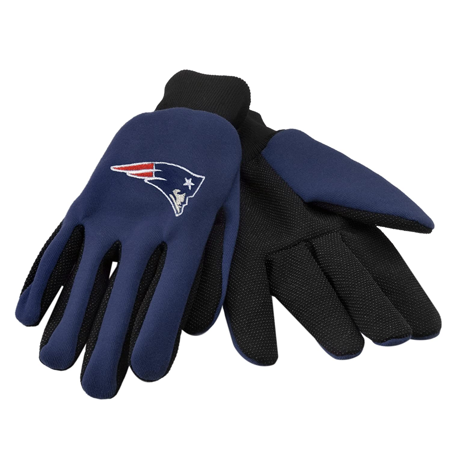 Forever Collectibles NFL New England Patriots zweifarbig Utility Handschuhe, Schwarz GLVWKNF11NP