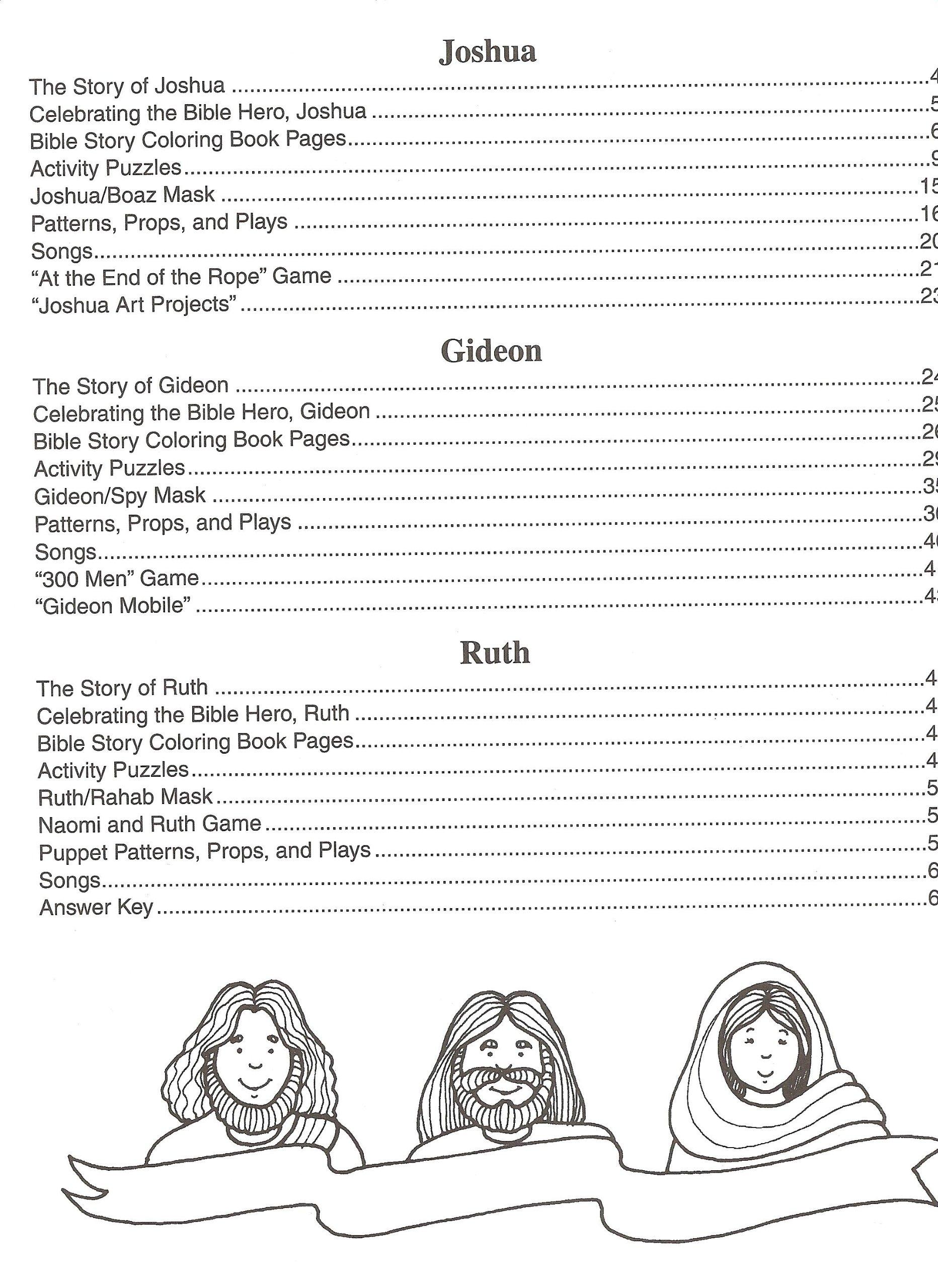bible heroes joshua gideon and ruth bible heroes series