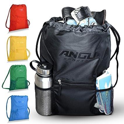 Painting Supplies High Quality Handmade Football Basketball Storage Bag Draw Mesh Sack Ball Pocket