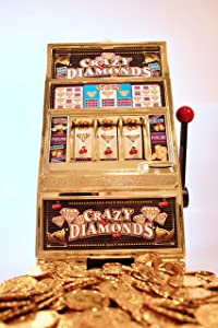 Friday | Jumbo Slot Machine Plus 50 Metal Gaming Coin Tokens - for Adults and Awesome Casino Party Decoration