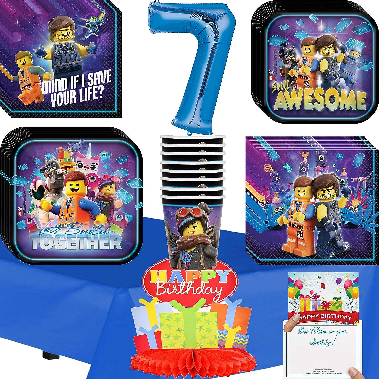 Amazon.com: Lego Movie 2 Party Supplies 7th Birthday Deluxe ...